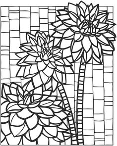 Welcome to Dover Publications  Creative Haven Floral Mosaics Coloring Book