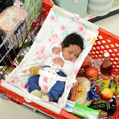 Binxy Baby Shopping Cart Hammock - Full Bloom | Shop Baby Registry Essentials That Make Life Easier at SugarBabies!