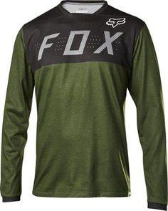 Fox Men s Indicator Bike Jersey Heather Dark Fatigue XL Motocross Clothing e7ba78d56