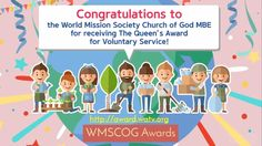 The #WMSCOG(World Mission Society #Church of God) has received The UK Queen's #Award for Voluntary Service 2016 ! more detailed information : http://award.watv.org/queen