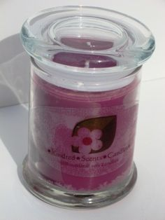 Black Cherry Soy Candle 8 oz jar by Kindredscents on Etsy, $11.50