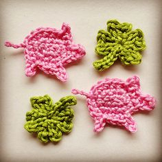 Lucky Pig - free crochet applique pattern by Simone H.