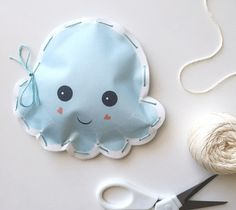 Printable Kid's Octopus Stuffie by Kori Clark. Make It Now with the Cricut Explore machine and Print then Cut feature in Cricut Design Space.