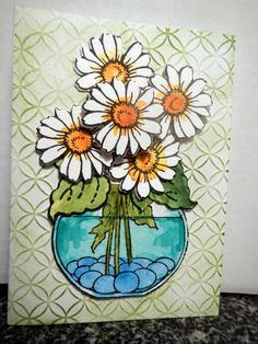 Love these Stampendous Build a Bouquet stamps and dies. Having a great time trying out all different ways to color them.
