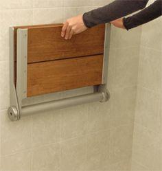 Fold Up Shower teak fold-up shower seat | shower seat, teak and shower benches
