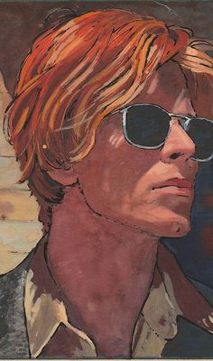 """Bowie Art Image from """"The Man Who Fell to Earth"""" by the captains art Angela Bowie, David Bowie Tribute, David Bowie Art, Duncan Jones, Music Pics, Music Stuff, The Thin White Duke, Goblin King, Scary Monsters"""