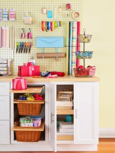 Gift Wrap Station #home #decor via @Family Circle Magazine ok so I'm getting a 3 bedroom one for me one for labdon. And the last one will be office/crafts and stuff like diy. :)