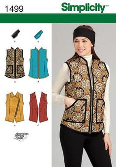Simplicity Creative Group - Misses' Vest and Headband in Three Sizes ||| ordered this pattern - would be nice quilted, maybe with sherpa lining