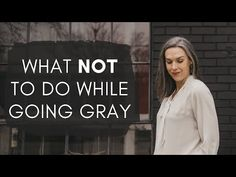 Taking a look back over the past 3 years and sharing some of the pitfalls that trip people up when going gray. Here's what NOT to do during your growout. Brown Hair Going Grey, Grey Hair Turning Yellow, Grey Hair Looks, Going Gray, Going Grey Transition, Purple Shampoo Toner, Grey Hair And Glasses, Hair Levels, Short White Hair