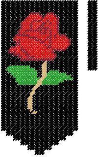 Rose Valance Plastic Canvas