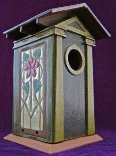 "Bosetti Art Tile - ""Craftsman's Window"" bird house - Raleigh, North Carolina"