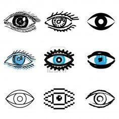 12834728-eye-icons-vector-set.jpg 1200×1200 pixels
