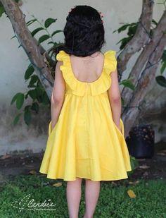 Dress For Girl Child, Kids Dress Wear, Kids Gown, Little Girl Outfits, Little Girl Dresses, Cotton Frocks For Kids, Frocks For Girls, Girls Frock Design, Baby Dress Design