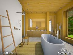 Wood And Glass (Bathroom) Glass Bathroom, Bathtub, Wood, Toilet Room, Bathrooms, Maids, Standing Bath, Bath Tub, Woodwind Instrument