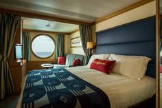Disney Cruise Line's Oceanview Stateroom on the Disney Magic has been redesigned with an innovative bath-and-a-half design, style, comfort and a dash of Disney magic
