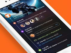 Social games for iOS app. UI and UX, animated [gif]