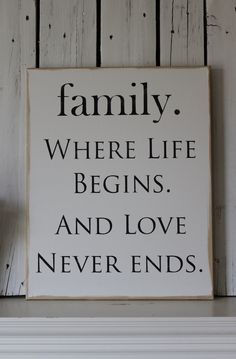 "Great Idea for Family Reunion Photo Book Quotes. ""Family. Where Life Begins and Love Never Ends."""
