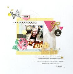 #papercrafting #scrabooking #layouts - April 2016 Jot MoodBoard Sample by Sheree Forcier