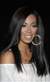 Solange Knowles Beautiful Long Straight Custom Full Lace Human Hair Wig - All Wigs - EvaWigs