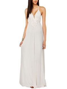 Sexy V Collar Tassels Backless Dress_Maxi Dress_DRESSES_Wholesale clothing, Wholesale Clothes Online From China