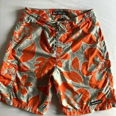 2376352965 Abercrombie & Fitch Mens Board Shorts Swim Trunks Swimsuit Floral ORANGE SZ  M 34 #AbercrombieFitch