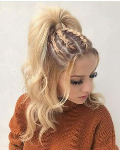 Exceptional Braided Up Hairstyles for Teenage Girls to Look Cutest This Year. Get Cutest Look This Year By Having These So Stunning Teen Hairstyles for Long Hair. hairstyles long Exceptional Braided Up Hairstyles for Teenage Girls to Look Cutest This Year Teen Hairstyles, Box Braids Hairstyles, Hairstyle Ideas, Wedding Hairstyles, Summer Hairstyles, Hairstyle Braid, Stylish Hairstyles, Simple Hairstyles, Hairstyles 2018