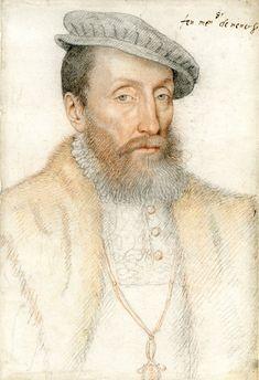 Francois I der Mark-Kleve, Duc de Nevers (1516-1562) (by F. Clouet). He married…