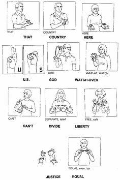 Pledge of Allegiance in ASL