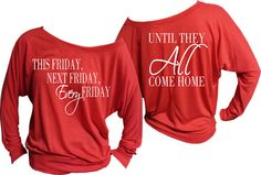Red Friday Off The Shoulder Shirt by PeakPromotions on Etsy