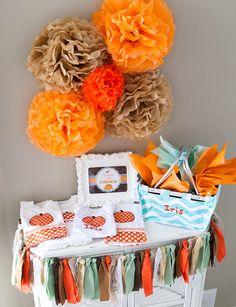 Rustic Little Pumpkin Baby Shower Ideas - Adorable Baby Shower Gift Set!!