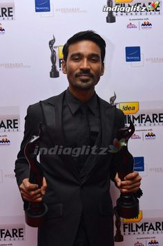 Dhanush at 60th Idea Film Fare Awards