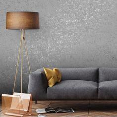 Sapphire Foil Texture Wallpaper Charcoal - Wallpaper from I Love Wallpaper UK Textured Wallpaper, Fancy Bedroom, Modern Interior Decor, Cosy Living Room, Living Room Decor Apartment, Home Decor, Grey Wallpaper Living Room, Living Room Plants, Home Living Room