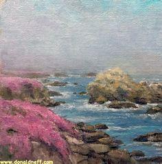$80 Misty Monterey, 6x6, oil on board