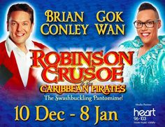 My super talented baby bruv Gok Wan with the everso funny Brian Conley - Looking forward to watching this show on the 27th December