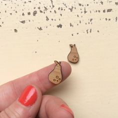 1 Pair Mini Pears Laser Cut Bamboo Earring by CraftyCutsLaser  #diyjewellery #makenecklace #makeearrings #makebrooch #makeyourownaccessories #DIYNecklace #lasercutfindings #buylasercutshapes #craftycuts #makeearrings #earringfindings #earringsupplies