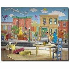 Superb JL1213M Sesame Street Prepasted XL Sized Wallpaper Mural | Donna |  Pinterest | Sesame Streets, Sesame Street Birthday And Birthday Party Ideas Part 12