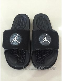 2a24ebf07aa47 Mens Jordan Hydro 9 Slide Sandals Black White Super Deals IJx5r
