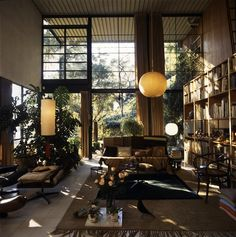 The Charles and Ray Eames House in Santa Monica, California, interior view