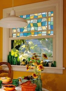 High Quality Lovely Little Painted Window Glass In The Kitchen. Part 7