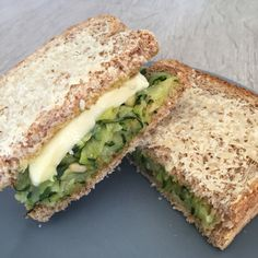 tosti met courgette