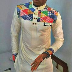 African Clothing for Men African Print Clothing by AfricaBlooms If you love fashion check us out. We're always adding new products for your closet! African Shirts For Men, African Dresses Men, African Attire, African Wear, African American Fashion, African Print Fashion, Fashion Wear, Mens Fashion, Fashion Check