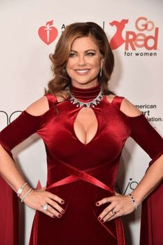 kathy ireland for the Go Red For Women, Red Dress Fashion show for New York Fashion Week Dress by Marc Bouwer. Diamonds and Rubies from Loved One. New York Fashion Week 2018, Nyfw 2018, Kathy Ireland, Go Red, Famous Models, Dress Collection, Designer Dresses, Fashion Show, Fashion Dresses