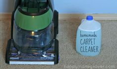 The best EVER homemade DIY Carpet Cleaner recipe. Really works well to get out the tough stains.