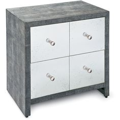 cary white mirrored chest. worlds away cary silver mirrored chest design powder bath up pinterest world and white e