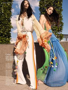 Top Trends From 2016 Spring Summer: Luping Wang and Tiana Tolstoi by KT Auleta for Vogue China February 2016 - Chloe Spring 2016