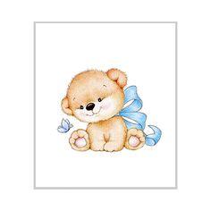 Teddy bear Nursery Art Print, Children Wall Decor, Kids Wall Art, Baby Room Wall Art, Animal Illustration, Children Art Print by SweetBabyArt on Etsy