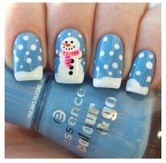Super cute winter nails!