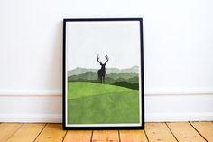 Hoi! Ik heb een geweldige listing op Etsy gevonden: https://www.etsy.com/nl/listing/275769090/scandinavische-print-hert-in-de-bos