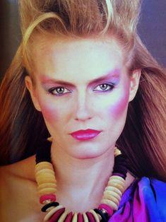 Makeup and hair, hair, hair makeup, glow makeup, 1980s Makeup And Hair, 1980s Hair, 1980 Makeup, Fashion Guys, 80s And 90s Fashion, Fashion Photo, Fashion Fashion, Fashion Brands, Fashion Dresses