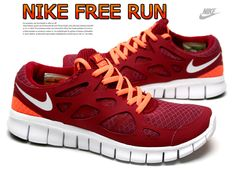 Nike Free Run 2 Womens dark red Shoes